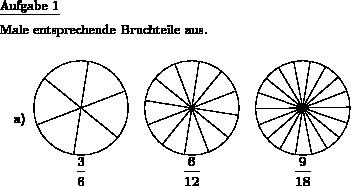 Gleiche Bruchteile ausmalen - Individuelle Mathe-Arbeitsblätter bei ...
