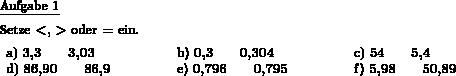 Größer kleiner gleich einsetzen - Individuelle Mathe-Arbeitsblätter ...