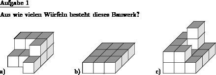 Turm Anzahl Klötze - Individuelle Mathe-Arbeitsblätter bei dw-Aufgaben