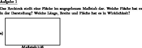 Rechteck Maßstab Fläche - Individuelle Mathe-Arbeitsblätter bei dw ...