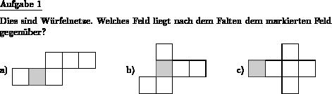 Würfelnetz welches ist - Individuelle Mathe-Arbeitsblätter bei dw ...