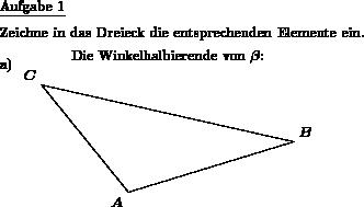 symmetrisches dreieck mathematik klasse 7