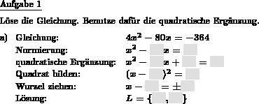 Quadratische Gleichung mit quadr. Ergänzung lösen - Individuelle ...