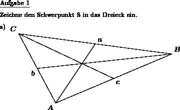 Dreieck: Schwerpunkt einzeichnen - Individuelle Mathe-Arbeitsblätter ...