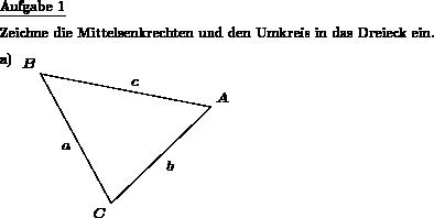 Dreieck zeichnen - Individuelle Mathe-Arbeitsblätter bei dw-Aufgaben
