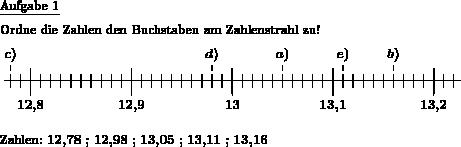 Runde Zahlen u Dezimalzahlen - Individuelle Mathe-Arbeitsblätter bei ...