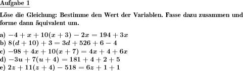 Lineare Gleichung mit Distributivelement lösen - Individuelle Mathe ...