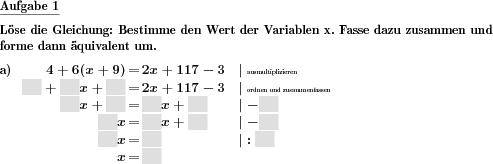 Lineare Gleichung lösen - Individuelle Mathe-Arbeitsblätter bei dw ...