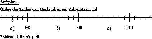 Arbeitsblatt-Vorlage Zahlenstrahl 2 - Individuelle Mathe ...